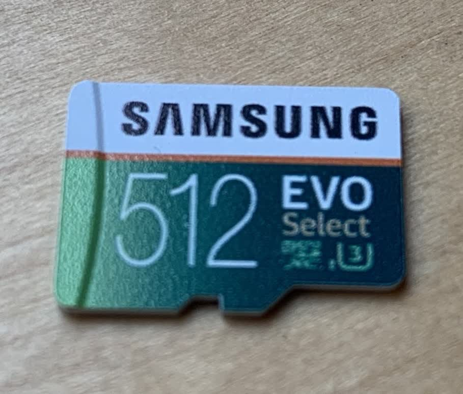 The new SD card